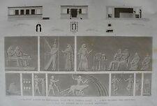EL KAB (ELETHYIA). (pl. 71, A. vol. I). Plan coupe et .....DESCRIPTION EGYPTE
