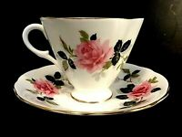 Vintage Tea Cup and Saucer- Clarence Fine Bone China- England - #850/57