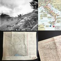 WWII Rare George Patton Seventh Army Infantry Fiume Italy Combat Map WW2 Relic