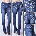 NWT JUNIOR AMETHYST JEANS Boot Leg Stretch Denim Slim Fit Jeans free ship #84860