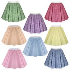 GINGHAM School Skirt Check Gingham Summer Dress GIRLS Uniform 4 - 15 years UK