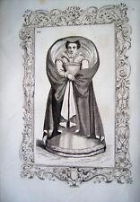 97-6-12 Gravure 1860 mode costume femme noble d'Anvers
