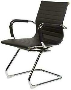 Evre Office/Boardroom/Cantilever/Desk Chrome Chair with Pu Leather ( Return)