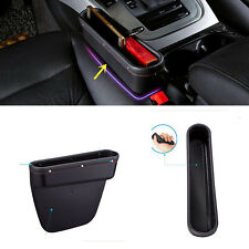 Black ABS + PU leather Seat gap Store content box containing box storage box