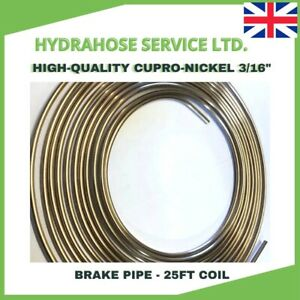 BRAKE PIPE 3/16 CUPRO NICKEL CUNIFER 25ft (7.62m) COIL BSEN 12449 IMPERIAL PIPE