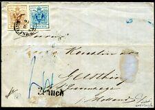 ÖSTERREICH 1850 4+5Y auf BRIEF nach NIEDERLANDE RR signiert FERCHENBAUER (S7434