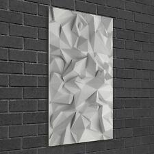 Wand-Bild Kunstdruck aus Acryl-Glas Hochformat 50x100 Abstrakte 3D-Figuren