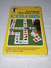 1980 Rainbow Works Preschool Matching Cards Colors Sealed