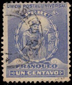 """PERU 141 - Manco Capac """"1896 Ultramarine"""" (pa25479)"""