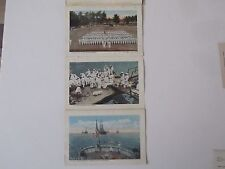 US Navy Fold out souvenir cards (9) full color, 18 pictures, Intl. Film Svces NY