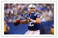 Andrew LUCK Indianapolis Colts firmato Foto Autografo Stampa NFL Football