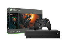 Microsoft Xbox One X 1TB Shadow of the Tomb Raider Spielkonsole Bundle - Schwarz