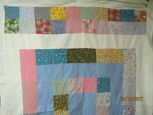 Vintage 1950's Quilt Top 4 Patch
