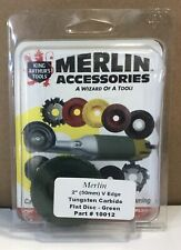 "King Arthur Tools 10012 2"" V-Edge Carbide Abrasive Disc Merlin Accessory Green"