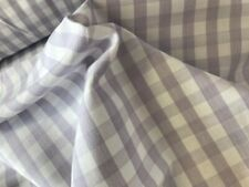 LAVENDER   gingham check 100 cotton fabric linen material curtain blind etc