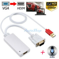 1080P VGA HDMI Output HD Audio TV Video Cable Converter Male To Female Adapter