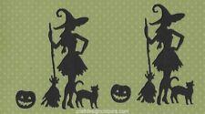 DIE CUTS - WITCH PUMPKIN BROOM AND CAT