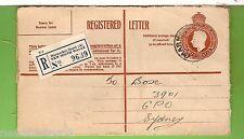 #D205. 1951 Registered Letter Envelope To Sydney