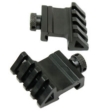 45 Degree Offset Rail Mount Quick Release for Picatinny Weaver Rail - 2 PCS