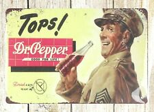 Tops Dr Pepper soda pop good for life tin sign wall address plaque