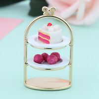 1/12 Dollhouse Miniature Dessert Pan Cake Stand Fruit Tray Doll Kitchen Toys Dz