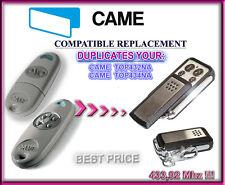 Came TOP432NA, Came TOP434NA Compatible Télécommande / Cloner 433,92Mhz
