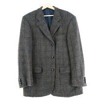 Harris Tweed 100% Laine Marron Veste Blazer Taille US / Eu 42 Eu