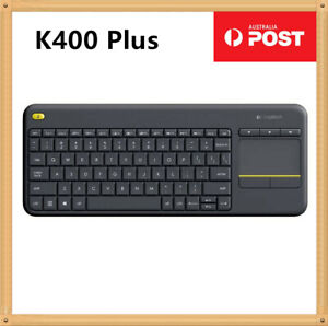 Logitech Wireless membrane K400 Plus TouchPad unifying PC TV Box Keyboard Black