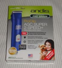 Andis Super 2-Speed+ BLUE ProClip AGC dog clipper 22405 Model AGC2 10 blade