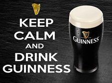 KEEP CALM AND DRINK GUINNESS FRIDGE MAGNET REFRIGERATOR m