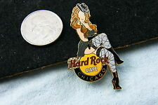 HARD ROCK CAFE PIN CHICAGO SEXY GANGSTER GIRL IN STOCKINGS