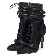 Rupert Sanderson / Antonio Berardi Black Lace Up Heeled Boots - UK Size 7