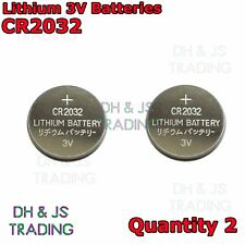 2x CR2032 3V Lithium Coin Battery Watch Car Alarm Key Fob Toy Camera CR 2032 3 v