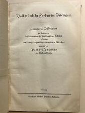 Volkstümliche Farben Chiemgau, Chiemgau, Volkskunde, Dr. Otto Maußer.