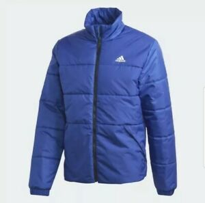 Adidas BSC 3-Stripes Insulted Winter Jacket Blue Men's Size 3XL GE5853