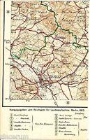 Hameln Holtesen Hilligsfeld 1923 Teilkarte/Ln. Helpensen Wehrbergen Fischbeck