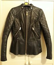 river island leather jacket size 8/10