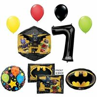 The Lego Batman Movie 7th Birthday Party Supplies and Balloon Decorations