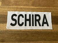 SCHIRA Game Used Worn Ottawa Senators White Jersey Nameplate