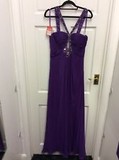 Gino Cerruti Prom Gown Bridesmaids Evening Dress purple Size 8 Xs BNWT