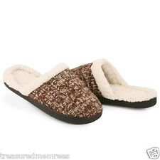 Isotoner Heathered Knit Clog Slippers  ~  Size (6.5-7) ~  New With Tags