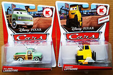 Lot of 2 Disney Pixar Cars Muggsy Liftsome & R.S. John Lassetire Kmart Exculsive