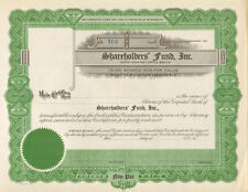 Shareholders Fund > Hoquiam Washington stock certificate scripophily collectible