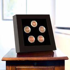 Leuchtturm LED Präsentationsrahmen 358252 für 5 Münzen 5 Euro Deutschland Zonen