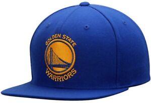 "Golden State Warriors NBA Mitchell & Ness Royal Blue Snapback Hat "" NEW """