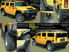 2003 2004 2005 HUMMER H2 OFF ROAD VERSION FENDER FLARES E&G