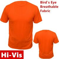 Hi Vis High Visibility T Shirt Non ANSI Short Sleeve Safety Orange Tee Shirts