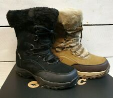 Ladies High-Tec St.Moritz 200WP Waterproof Suede & Faux Fur Lace Up Snow Boots