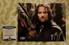 Viggo Mortensen signed Lord of the Rings 8x10 photo Beckett/Bas #F97177 Aragorn