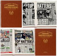 PERSONALISED English FOOTBALL TEAMS Club History NEWSPAPER Book Gift Idea FC Him